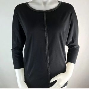 TWO Vince Camuto Moto Dolman Batwing Blouse